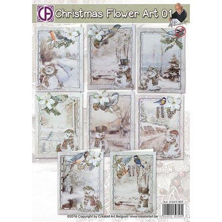 BASTELSETS / CRAFT KITS: Paquete completo para 8 tarjetas de Navidad!