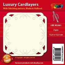 Luxe kaart lay-outs voor borduurwerk, 3 stuks