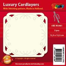 KARTEN und Zubehör / Cards Luksus kort layouts til broderi, 3 stykker