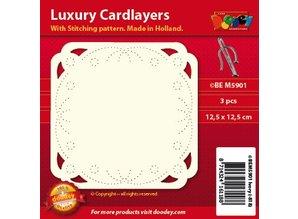 KARTEN und Zubehör / Cards layout di carta di lusso per il ricamo, 3 pezzi