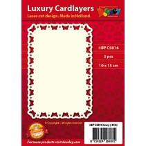 layouts de cartão de luxo, 3 peças