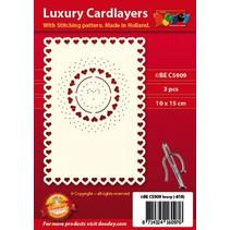 layouts de cartão de luxo para bordados, 3 peças