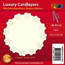 dispositions de cartes de luxe pour broderie, 3 pièces