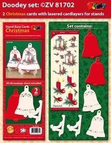 Exlusiv Exclusives Bastelset für 2 Weihnachtskarten + Kartenhalter