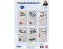 BASTELSETS / CRAFT KITS: Complete card set, winter landscapes for 6 tickets!