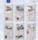 BASTELSETS / CRAFT KITS: Conjunto de tarjeta completa, paisajes de invierno para 6 entradas!
