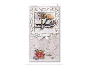 BASTELSETS / CRAFT KITS: Complete card set, winter landscapes for 6 tickets!