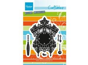 Marianne Design Stansning og prægning skabelon: Cuckoo ur