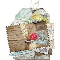 Stansning og prægning skabelon: 4 ramme i form af frimærker