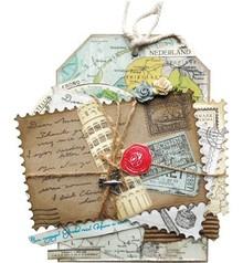 Marianne Design Stansning og prægning skabelon: 4 ramme i form af frimærker