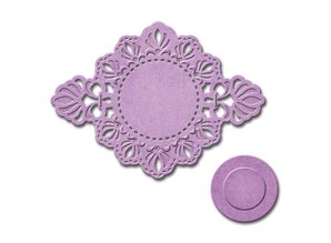 Spellbinders und Rayher Punching and embossing template: decorative frame