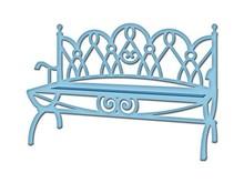 Spellbinders und Rayher Punzonatura e goffratura modello: Panchina da giardino
