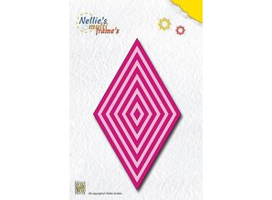 Nellie snellen Punching and embossing templates: Multiframe This diamond