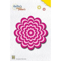 Punzonado y estampado en relieve plantillas: Flor Multi marco