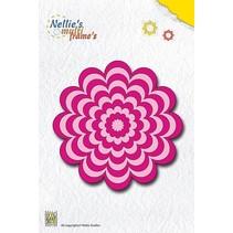 Stansning og prægning skabeloner: Multi ramme blomst