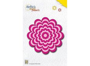 Nellie snellen Stansning og prægning skabeloner: Multi ramme blomst