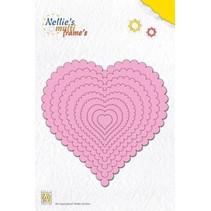 Stansning og prægning skabeloner: Multi Frame Heart