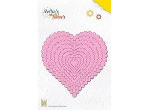 Nellie snellen Punzonado y estampado en relieve plantillas: Marco del corazón multi