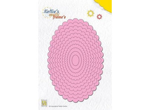 Nellie snellen curled Multi Frame Oval: punching and embossing stencils