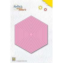 Punching and embossing templates: hexagon multiframe