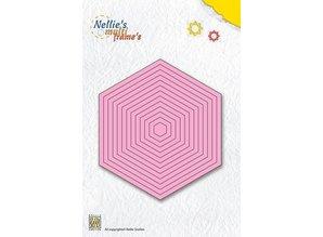 Nellie snellen Stansning og prægning skabeloner: sekskant multiframe