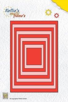 Nellie snellen Stansning og prægning skabeloner: Multi frame rektangler