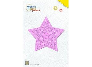 Nellie snellen Stansning og prægning skabeloner: Multi Frame stjerne
