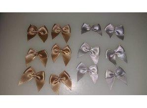 Embellishments / Verzierungen Mini Schleifen, 12 Stück