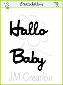 "Joy!Crafts und JM Creation Stanzschablonen: deutsche Text: ""Hallo"" und ""Baby"""