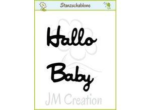 """Joy!Crafts und JM Creation Stanzschablonen: deutsche Text: """"Hallo"""" und """"Baby"""""""