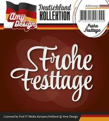 Amy Design Stanzschablonen: Frohe Festtage