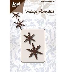 Joy!Crafts und JM Creation Punzonado y estampado en relieve plantillas: 2 cristales de nieve