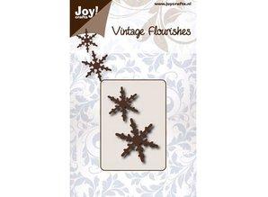 Joy!Crafts und JM Creation Stansning og prægning skabeloner: 2 snekrystaller