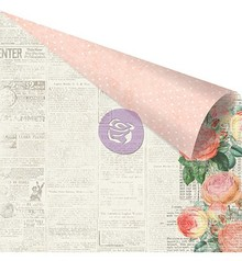 Prima Marketing und Petaloo scrapbook Papier, 30,5 x 30,5cm in zarte Farben