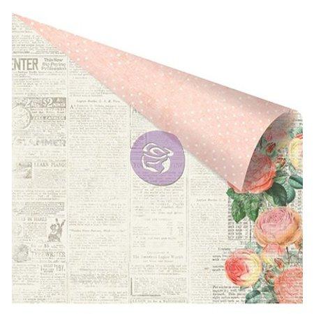 Prima Marketing und Petaloo scrapbog papir, 30,5 x 30,5 cm i bløde farver