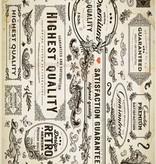 DESIGNER BLÖCKE  / DESIGNER PAPER Karton sortiment Vintage, Vintage sten gips, hvid / beige