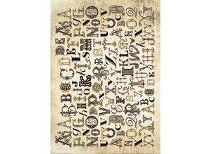 DESIGNER BLÖCKE  / DESIGNER PAPER Tarjeta de la vendimia Stock surtido, yeso piedra de la vendimia, blanco / amarillento