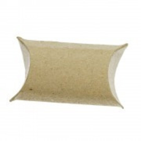 BASTELZUBEHÖR / CRAFT ACCESSORIES 24 Pillow Schachteln, 9 x 6 x 3 cm, braun