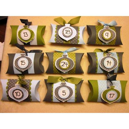BASTELZUBEHÖR / CRAFT ACCESSORIES 24 Pillow Boxes, 9 x 6 x 3 cm, brown