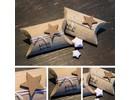 BASTELZUBEHÖR / CRAFT ACCESSORIES 24 Cajas de almohada, 9 x 6 x 3 cm, de color marrón