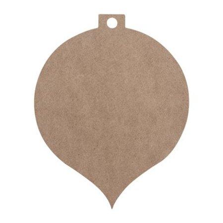 Objekten zum Dekorieren / objects for decorating 2 Weihnachtskügel MDF