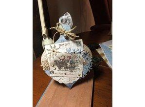 Objekten zum Dekorieren / objects for decorating MDF bola de Navidad
