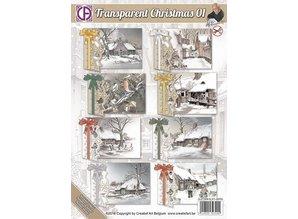 BASTELSETS / CRAFT KITS: Komplettes Kartenset für 8 Weihnachtskarten