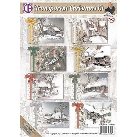 BASTELSETS / CRAFT KITS: Komplet kort sæt til 8 julekort