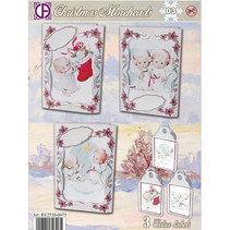 Complete Card Set for 3 Christmas cards and 3 labels