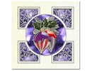 Sticker embossed Ziersticker, Christmas ball