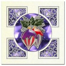 Sticker embossed Ziersticker, Christmas ball