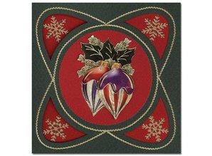 Sticker prægede Ziersticker, jul bold