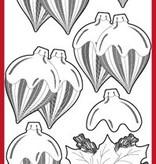 Sticker goffrato Ziersticker, palla di Natale