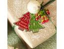 Sticker geprägte Ziersticker, Weihnachtsbäumchen Labels